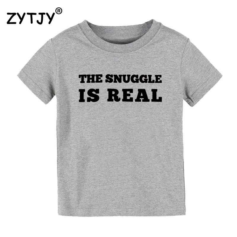 The Snuggle Is Real Print Kids Tshirt Girl T Shirt For Children Toddler Clothes Funny Tumblr Top Tees Cz 133 Aliexpress
