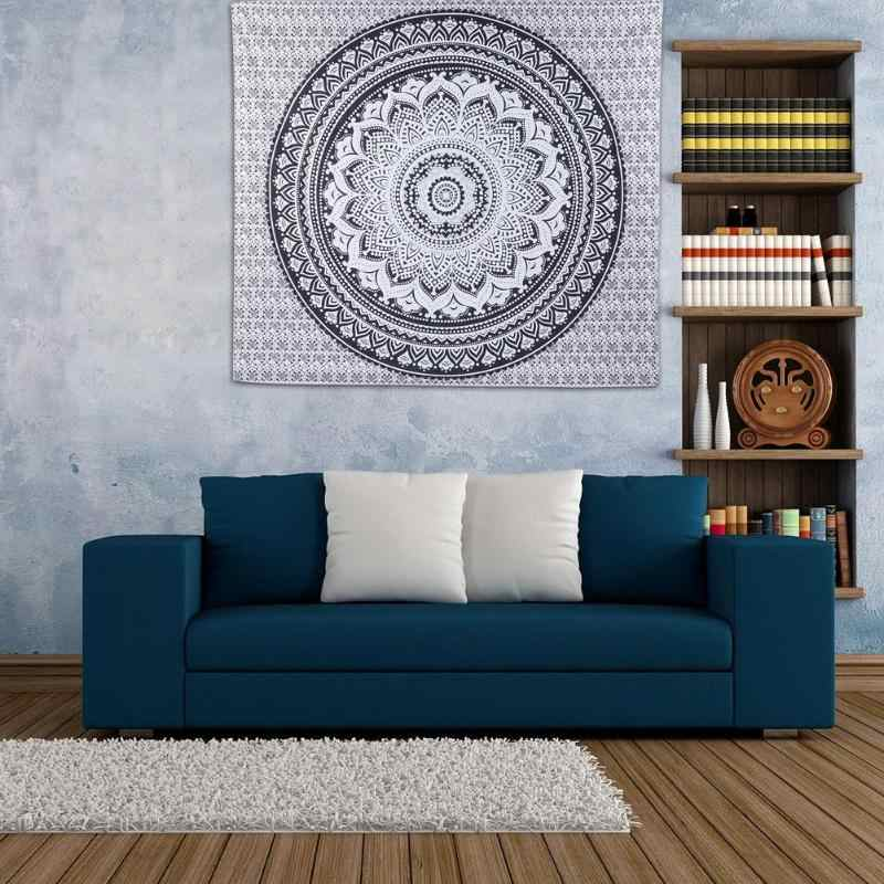 Indien Mandala Wandteppich Hängen Boho Decor Wand Tuch Wandteppiche Psychedelic Hippie Nacht Mond Tapisserie Mandala Wand Teppich