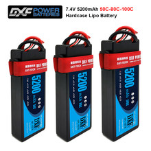 2PCS DXF 5200mAh 7.4V 50C 80C 100C Lipo Batteries for RC Car 2S RC Lipo Battery with Deans Plug For RC Car Truck Helicopter Boat(China)