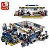 Sluban New F1 Racing Boy Small Particles Assembled Building Blocks Assembling B0356 Building Block Toys 741pcs Children's Toy