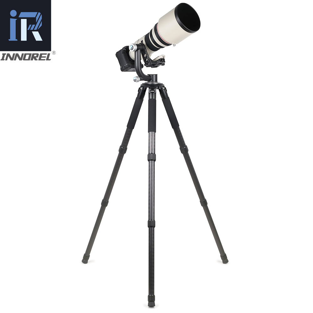 Image 5 - INNOREL CH5 Tripod Head QR Plate Carbon Fiber Gimbal for Telephoto Lens 720°Rotation High Precision CNCTripod Heads   -