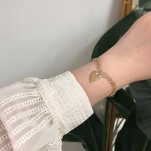 Amaiyllis 14K Gold Vintage Peach Heart Love Gold bracelet Little Pepper Chain Bracelet For Women Boho Summer Jewellry недорого