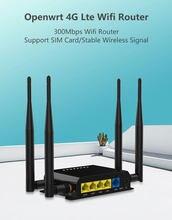 ZBT – routeur wifi 4G LTE, 300mbps, carte sim VPN PPTP L2TP, modem 4g, emplacement pour carte SIM, port RJ45, 1 lan4wan