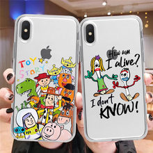 Film Pixar Toy Story 4 Forky Kelinci Woody Alien Buzz Lightyear Rex Jessie Lembut Ponsel Case untuk iPhone X XR XS Max 5 6S 7 7 Plus(China)