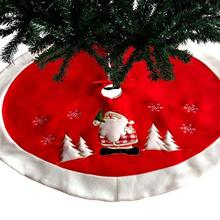 Нетканая Рождественская елка юбка фартуки круглый ковер Санта-Клаус Печать Рождественская елка юбки Рождественская елка ковер для украшения дома
