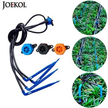 10 M/20 M/40 M juegos de flecha de goteo de 4 vías de riego transmisor rociador goteador riego sistema de riego plantas en maceta flor