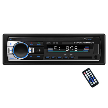 Car Multimedia Player Bluetooth Autoradio MP3 Music Player Car Stereo Radio FM Aux Input Receiver USB 12V In-dash 1 din ISO/Pin image