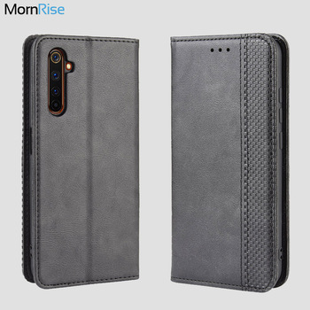 For OPPO Realme 6 5 Pro Case Book Wallet Vintage Slim Magnetic Leather Flip Cover Card Stand Soft Cover Luxury Mobile Phone Bags vintage leather wallet echo dune 5 case flip luxury card slots cover magnet stand phone protective bags