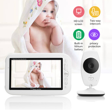 CYSINCOS Color LCD Baby Monitor Wireless Digital Video Display Two-Way Voice intercom Night Vision Temperature Sensing Lullaby wireless digital baby monitor 3 5 inch lcd screen two way audio video baby monitor night vision lullaby infant camera