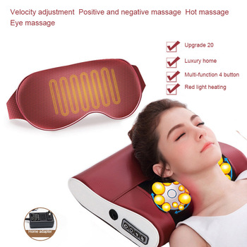 Electric Butterfly Massage Pillow Kneading Massager Device Neck Shoulder Warm Massage Instrument Body Healthy Care Relaxation