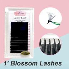 Lucky Lash Blooming Eyelash, Easy Fanning Eyelashes ,Russian Eyelash Extensions Volume Cilia lash individual fans eyelashes