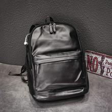 2020 Men Leather Backpacks Black School Bags for Teenagers Boys College Book bags Laptop Backpacks Travel Bags mochila masculina high quality england vintage style genuine leather men backpacks for college school backpacks for 14 inch laptop bags 9024