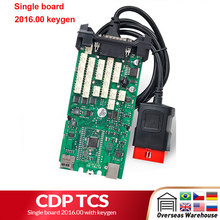 CDP tcs cdp pro Single board bluetooth 2016 keygen software multidiag pro OBD II scanner autos lkw auto diagnose werkzeug(China)