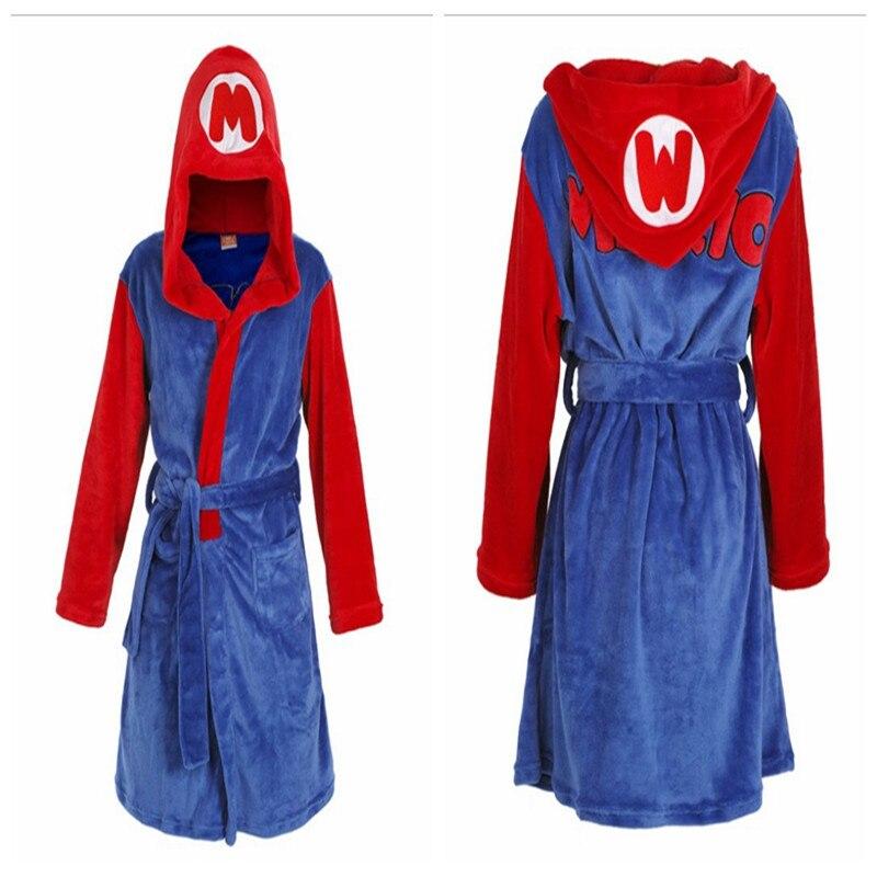 Новинка; классические аниме «Super Mario Bros»; Косплей «Mario»; для взрослых и детей; топ с капюшоном; Пижама; халат; плащ; фланелевый комбинезон; одеж