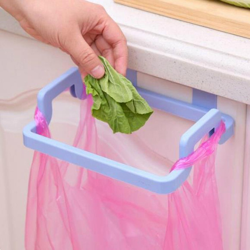 Plastic Door Back Garbage Bag Shelf Multi-function Kitchen Cabinet Door Rag Hanging Rack Storage Hook