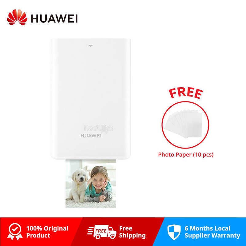 Asli Huawei AR Portable Foto Saku Printer Mini Portable DIY Photo Printer untuk Smartphone Bluetooth 4.1 300 Dpi Printer