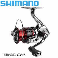 Carrete de pesca SHIMANO Stradic ci4 + Spinning 160g peso engranaje HAGANE 1000-4000XG 6 + 1BB carrete AR-C carrete de pesca de agua de mar