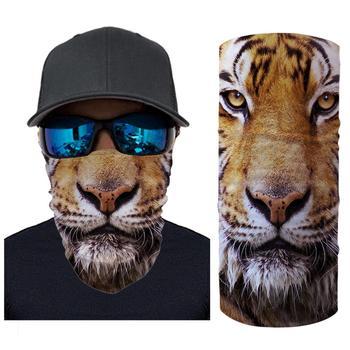 цены 3D Seamless Animal Shark Cat Neck Tube Warmer Face Mask Halloween Motorcycle Bicycle Head Scarf Headband Half Bandana Headwear