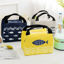 Waterproof Insulated Lunch Bag Thermal Stripe Tote Bags Cooler Picnic Food box bag for Women Girls Ladies Kids Children