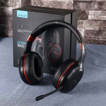Wireless bluetooth Over-Ear Headphones Colorful RGB LED Light Gaming Headset with Mic For Gamer PC Phones