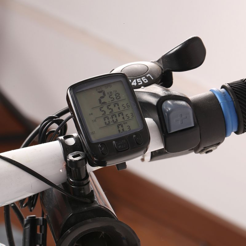 LCD Backlight <font><b>Bike</b></font> Computer Waterproof Sunding Bicycle Computer Multifunction Cycling <font><b>Bike</b></font> Speedometer Odometer <font><b>Power</b></font> <font><b>Meter</b></font> New image