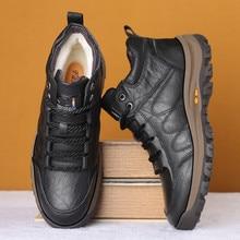 Shoes Ankle-Boots Monstceler Outdoor Designer Winter Men's Casual Split Sheep Sewing