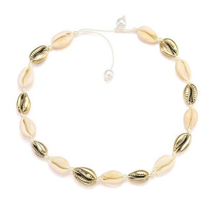 Экологически чистое ожерелье с искусственным жемчугом из натуральной раковины, модное простое ожерелье ручной работы для женщин и девочек,...