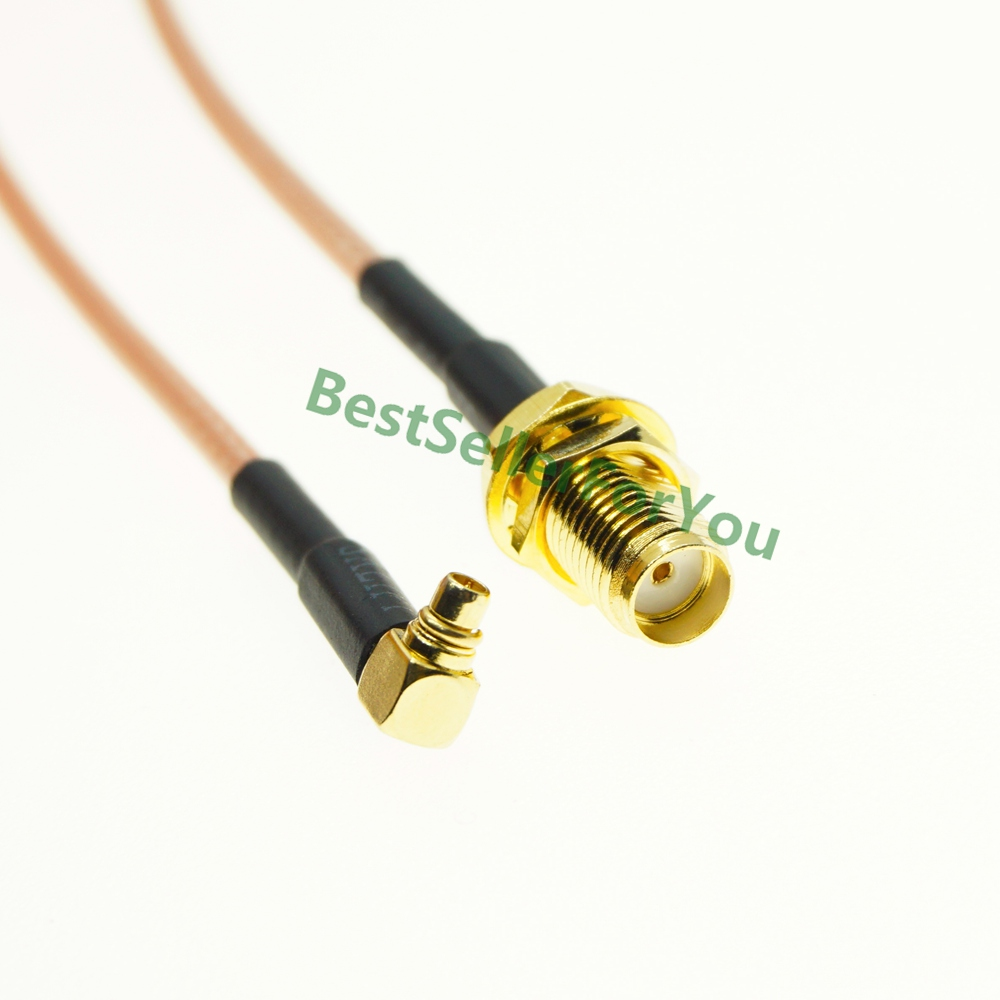 SMA Female Nut Bulkhead To MMCX Male Right Angle RA PLUG RG316 Pigtail Cable RF Coaxial Cable