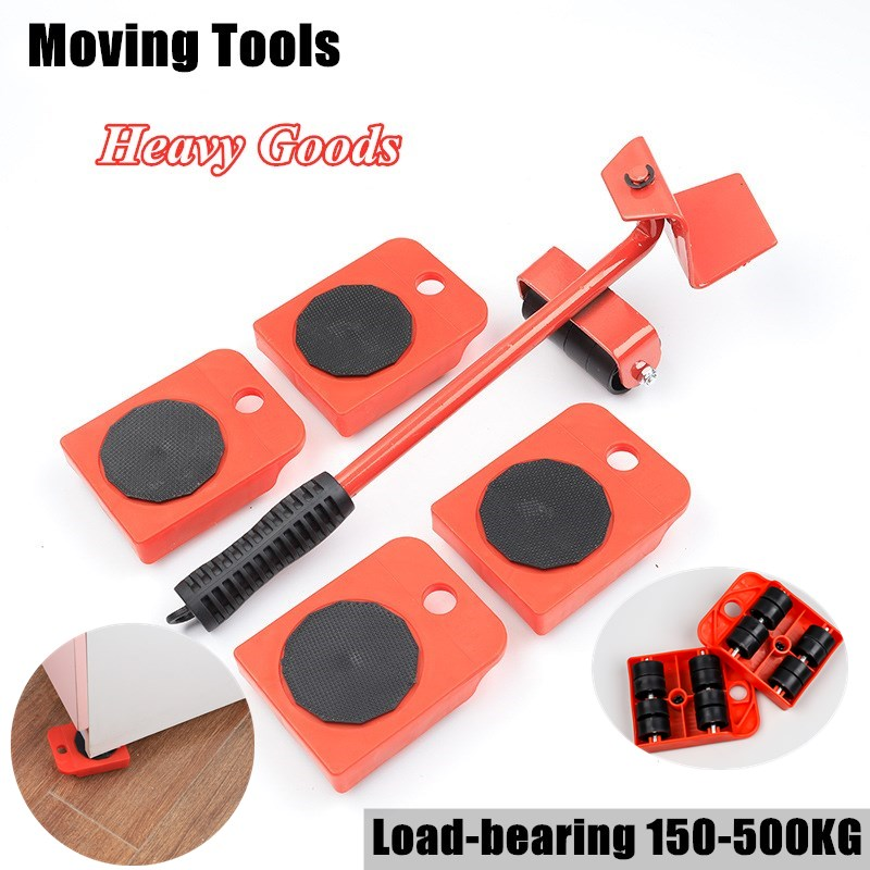 Heavy Cargo Moving Tools 150-500kg Load Bearing Handling Tool Home Bed Furniture Pulley Carrier Move Equipment Tool