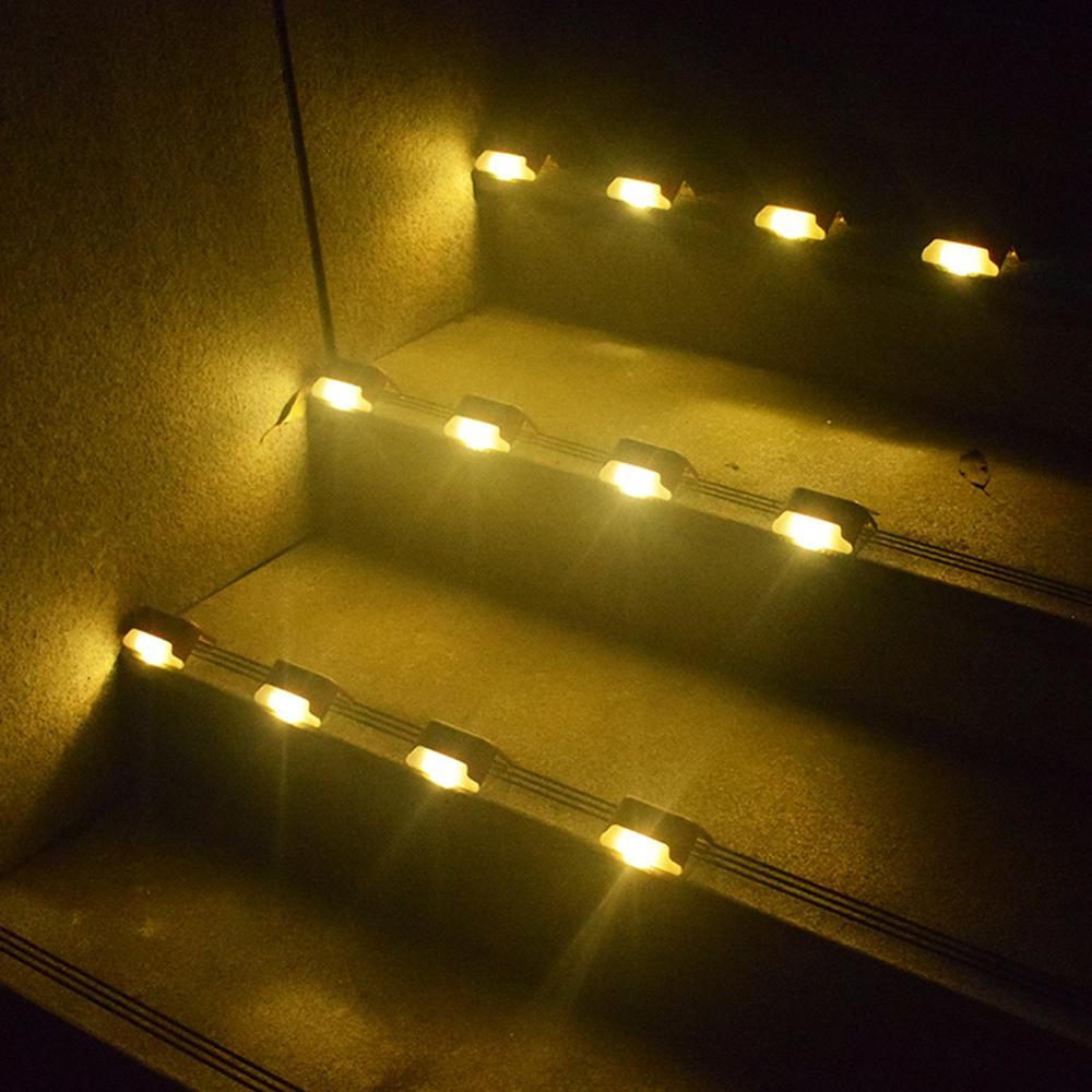 Solar Deck Lights Stairs Fence Led Lamp Outdoor Pathway Patio Deck Light Acces