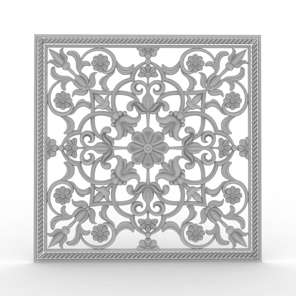 7 Pieces Window Hollow Pattern 3D Model STL Format File CNC Router ArtCAM Aspire Type3 JDpaint Engraving Carving File A2062