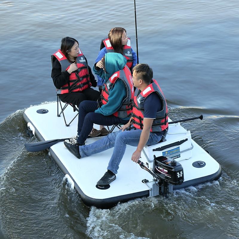 Fishing Magic Carpet Buoy Enhanced Inflatable Fishing Floating Platform Luya Inflatable Boat Rubber Boat