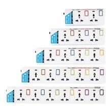 regleta corriente 3/4/5 AC puntos de venta Universal zócalo de extensión/UK/AU/EU/potencia para USA enchufe de Control independiente interruptor de cable de extensión de 1,8 M