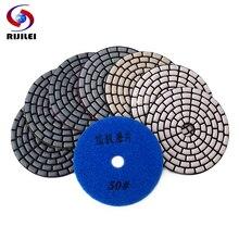 цена на RIJILEI 7PCS Super 100mm dry polishing pads Sharp 4inch diamond polishing pad For Granite Marble Concrete floor grinding disc