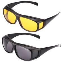 Carro visão noturna óculos de sol noite condução óculos motorista óculos unissex óculos de sol proteção uv óculos de sol