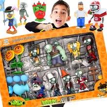 Neue Rolle Pflanzen Pea schießen Zombie 2 Spielzeug Vollen Satz Geschenk für Jungen Auswurf Anime kinder Puppen Action Figur modell Spielzeug Keine Box