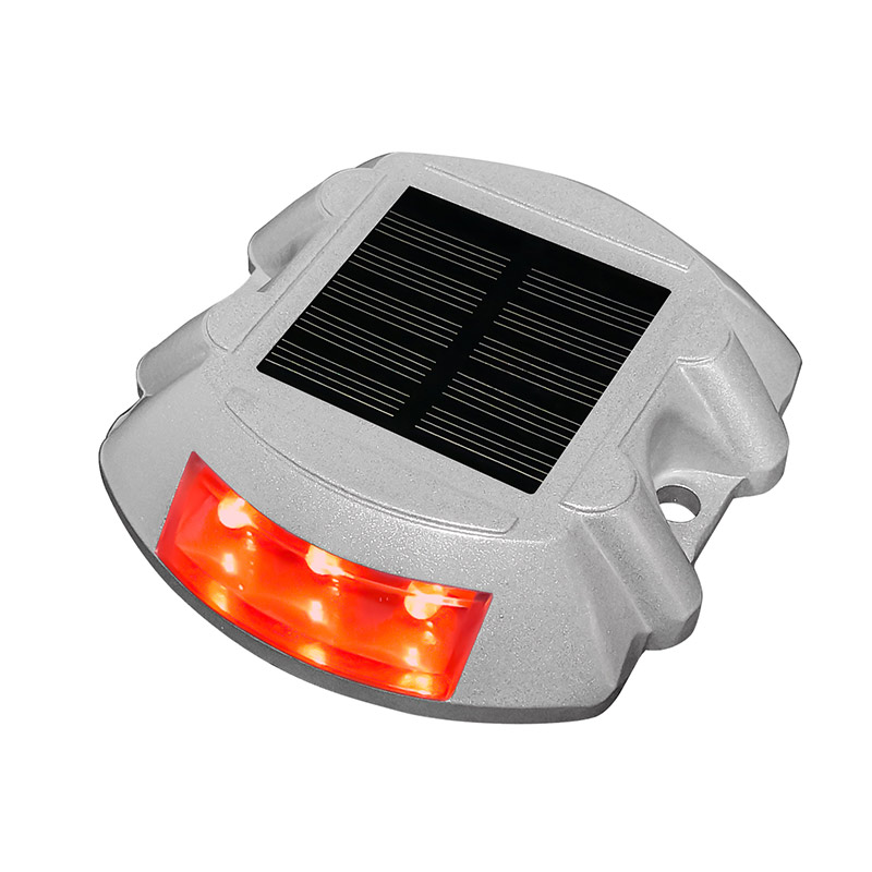 Outdoor IP68 Waterproof LED Solar Powered Road Stud Light Road Reflective Ground Light Warning Light