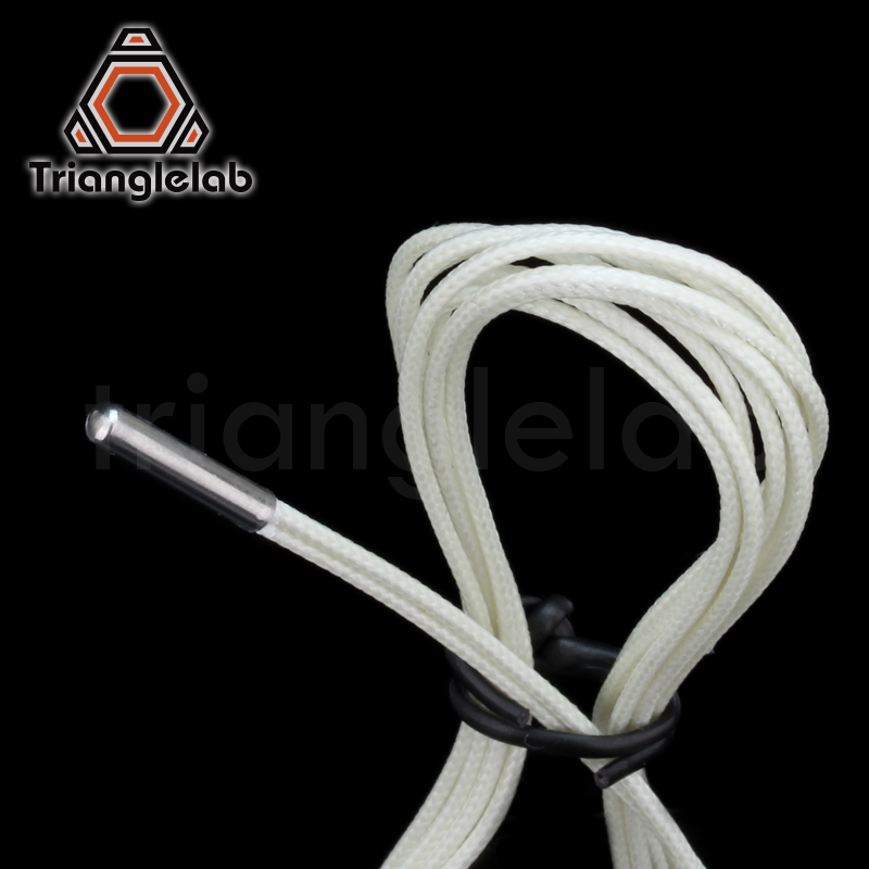 lowest price Trianglelab 3d printer parts PT100 Temperature Sensor for high temperature for E3D V6 HOTEND 2017 PT100 sensor free shipping