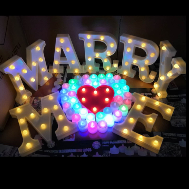 Candid Diy Z Alphabet Letters Light Led Night Lamp Desk Home Wedding Valentine's Day Party Decoration Ornament Crafts Luminous Gift Diversified In Packaging