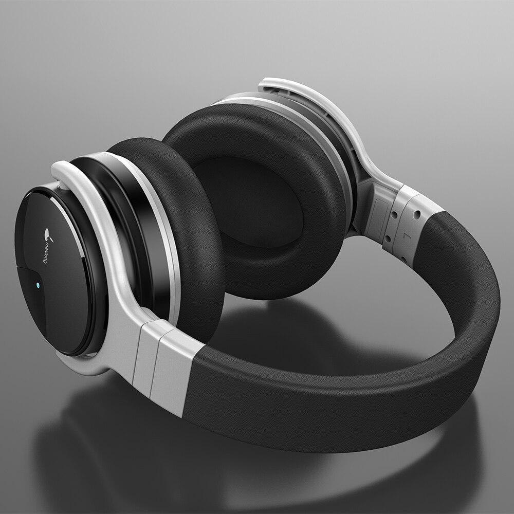 Meidong E7B [Verbeterde] Bluetooth Hoofdtelefoon Active Noise Cancelling Hoofdtelefoon Draadloze Headset Over Ear Met Microfoon Diepe Bas 4