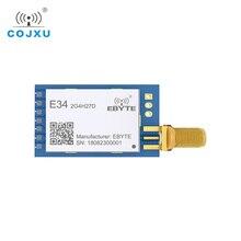 E34 2G4H27D nrf24l01 2.4g 27dbm módulo do transceptor sem fio do módulo do porto serial sem fio