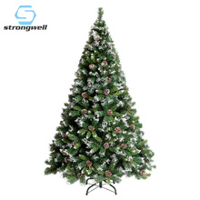 Strongwell Encryption Falling Snow Pine Cone Green Tree Mini Artificial Christmas Tree Decorations Christmas Decoration For Home