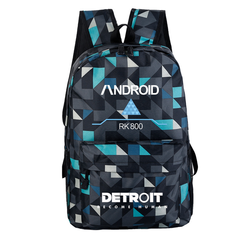 Detroit Become Human Variable People Shoulder Backpack A Generation Of Fat Cross-border Exclusively For Wholesale Customized
