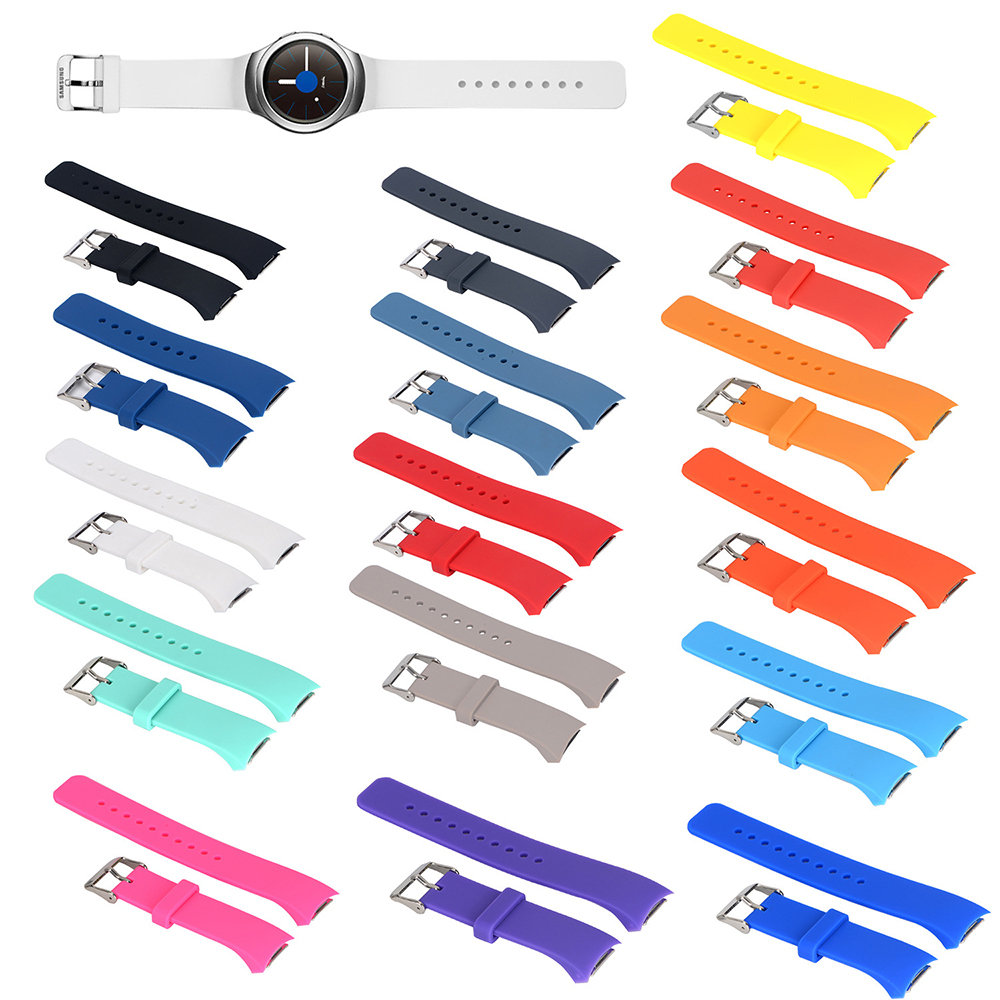 Silicone Watchband For Samsung Galaxy Gear S2 R720 Replacement Bracelet Strap For SM-R720 Smart Watch Band