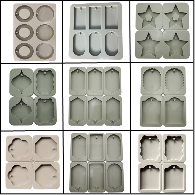 MILIVIXAY DIY Silicone Clay Aromatherapy Tablets Molds Crafts Hanging Ornaments Wax Molds Flower Soap Mold Craft Accessories