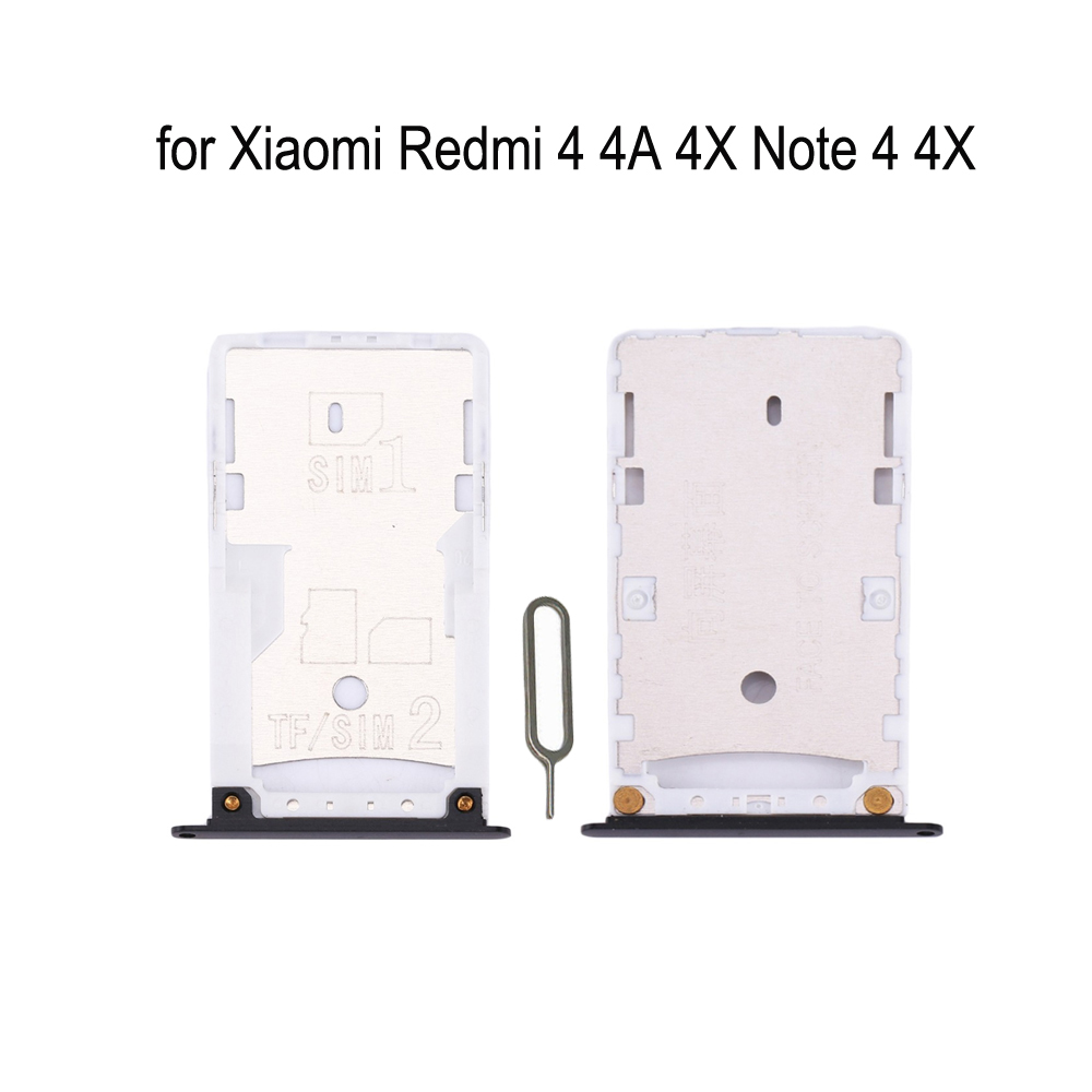 For XIAOMI Redmi 4 4A 4X Note 4 4X Original Phone Housing New SIM Tray Adapter For Xiaomi Note 4 4A 4X Micro SD Card Tray Holder