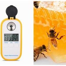 Przenośny cyfrowy refraktometr do miodu Brix refraktometr refraktometr 0-90% Brix Be Water 3w1 miernik stężenia miodu