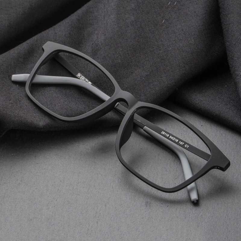 CUBOJUE  TR90+tianium Glasses Men Women Black 135mm 147mm 154mm Oversized Spectacles For Prescription Male Anti Blue Progressive