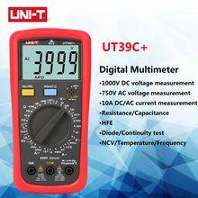 UNI-T UT39C+ Digital Multimeter Manual Range NCV Handheld DC AC Current Resistance Capacitance Meter