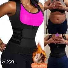 Corset Sauna Suit Waist-Trimmer-Vest Body-Shaper Women Tank-Top Workout-Compression Double-Straps